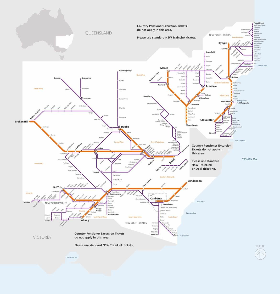 Country Pensioner Excursion map
