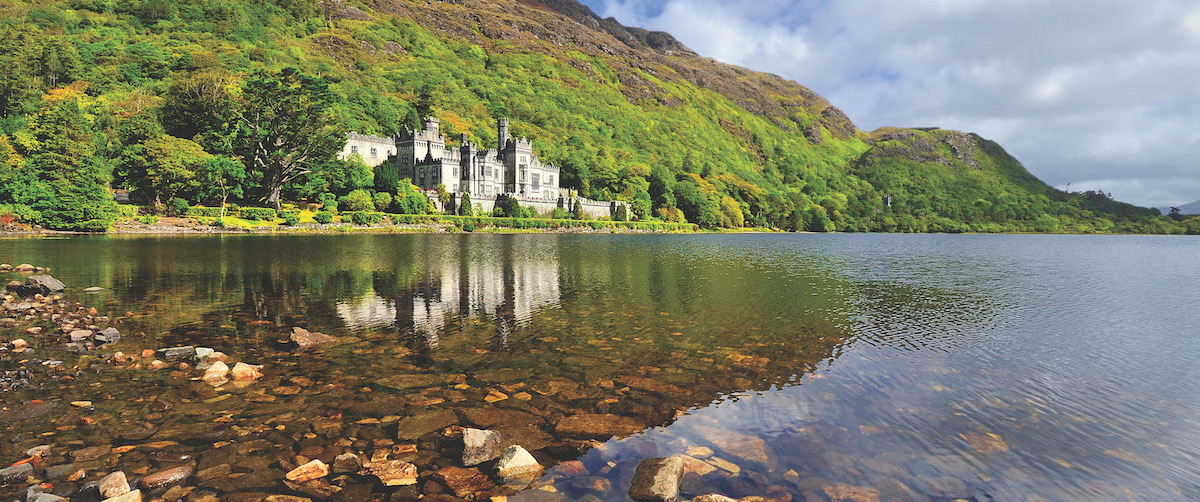 Kylemore Abbey in Connemara, County Galway.