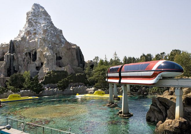 Disney monorail. Image Paul Hiffmeyer:Disneyland Resort.