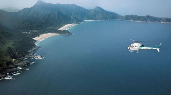 Journeys of Peninsula helicopter transfer to Sai Kung Country Park - Image Peninsula Hotel Hong Kong.