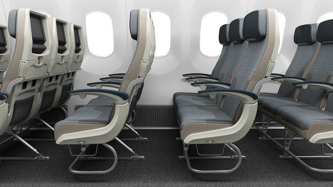 Economy seats onboard the new 787 Dreamliners - Image Air Tahiti Nui.