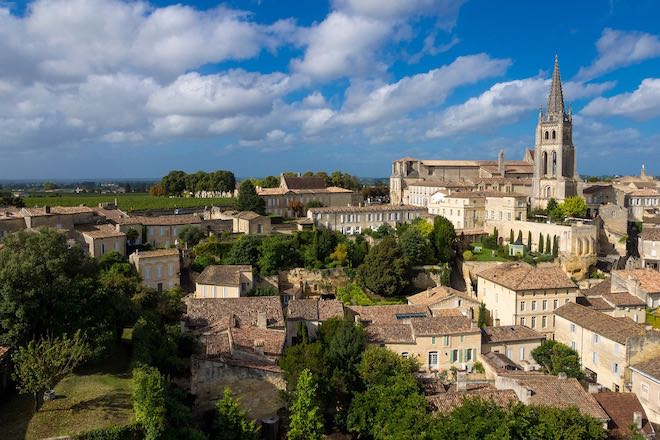 Quaint towns dot the Bordeaux region such as Saint Emilion.