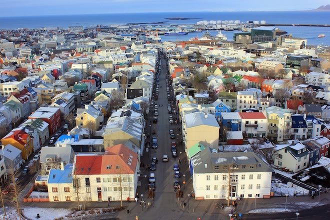 The colourful city of Reykjavik.