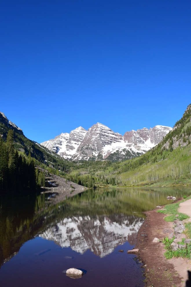 Sunrise is the best time for a reflection picture of Maroon Bells - Image credit Jason Dutton-Smith