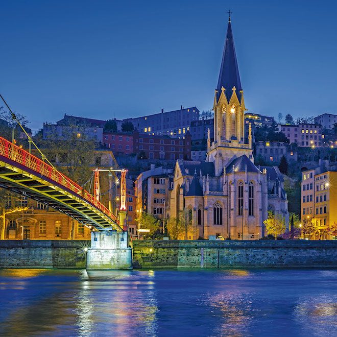 Cruising the still waterways of Lyon with Scenic - Image credit Scenic