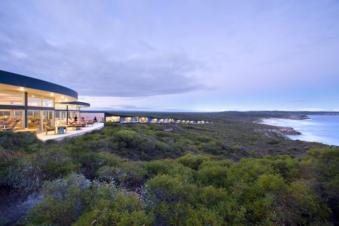 Sunset from the decks of Southern Ocean Lodge - Image Southern Ocean Lodge.