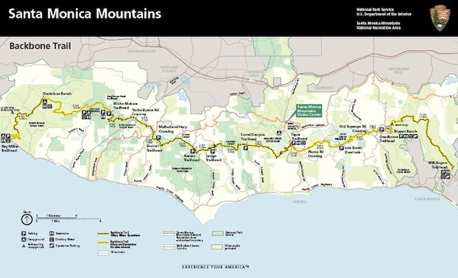 Backbone Trail Map - Click to enlarge