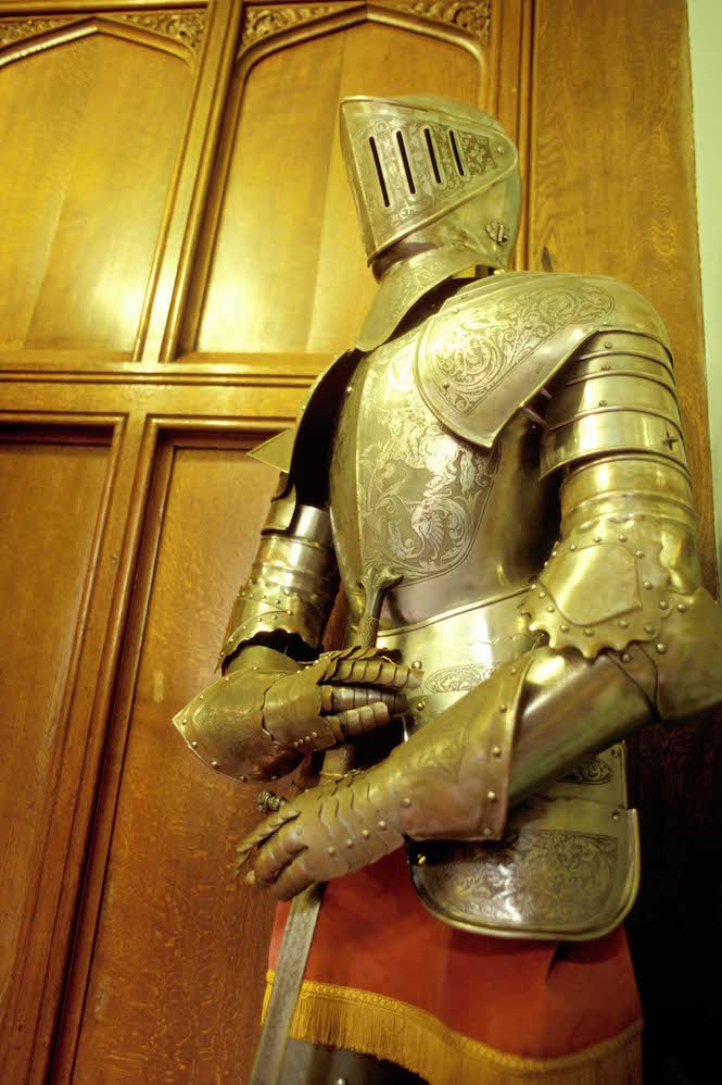 Suit of armour inside Langley Castle -– Image credit Andrew Marshall