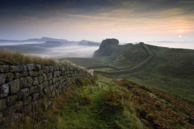 Hadrian's Wall near Housesteads Fort – Image credit Visit Britain _ Ron Edwards