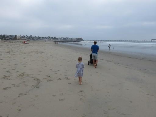 Walking along Ocean Beach towards the pier