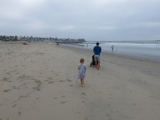 Walking along Ocean Beach towards the pier