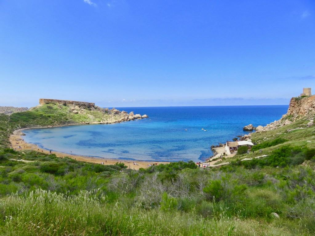 Riviera Beach Malta's Sandy Beaches