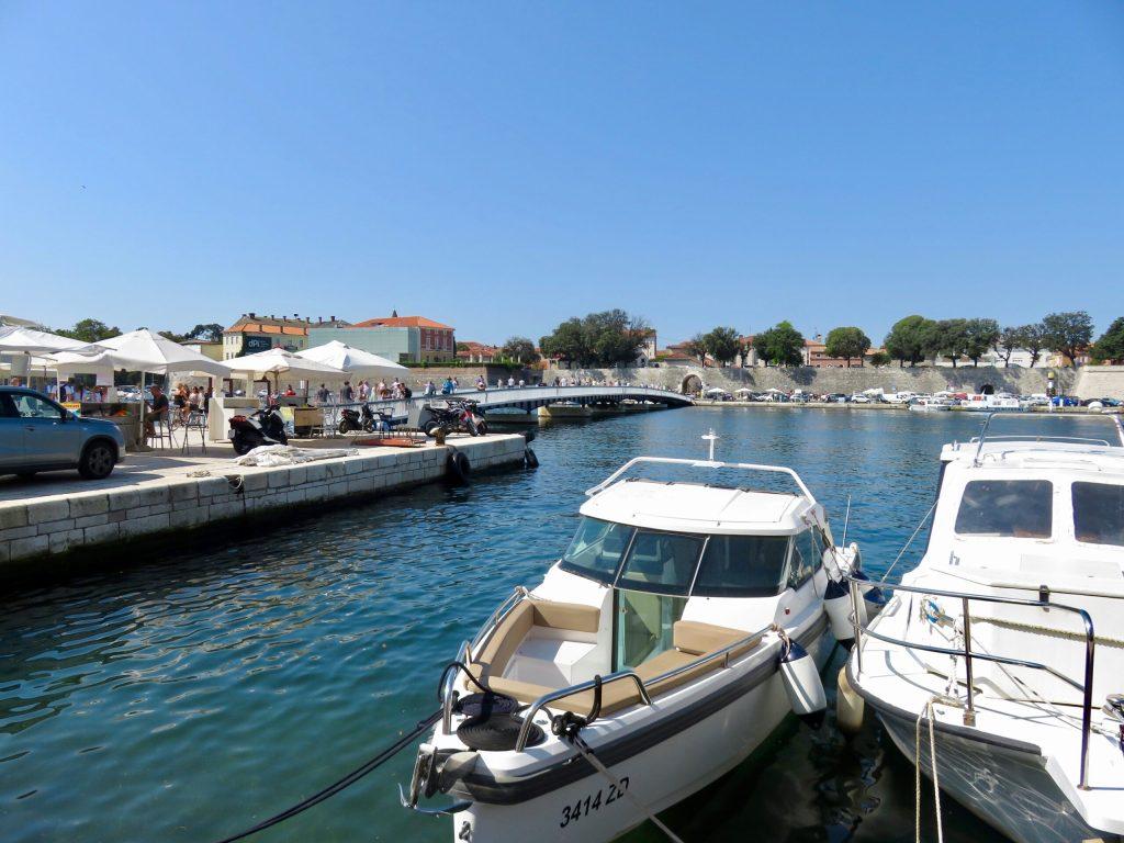 Sea Gate Bridge entrance into Zadar