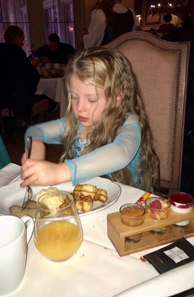 Kids menu at the Princess Breakfast at Disneyland Paris
