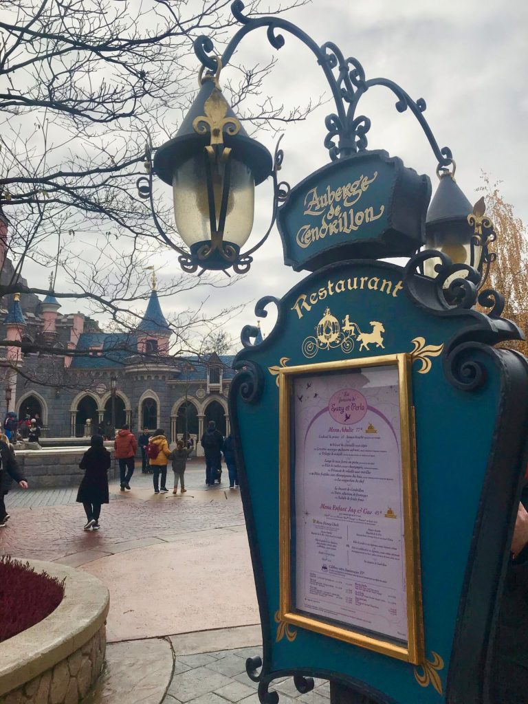 The Princess Breakfast at Disneyland Paris is located at Auberge de Cendrillon