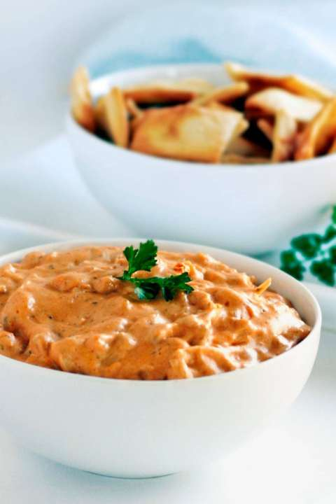 vegan buffalo chicken dip