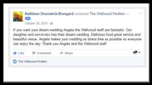 dream wedding testimonial Wellwood