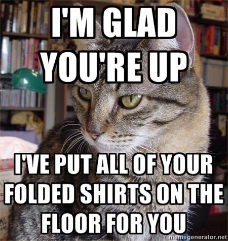shirts on the floor