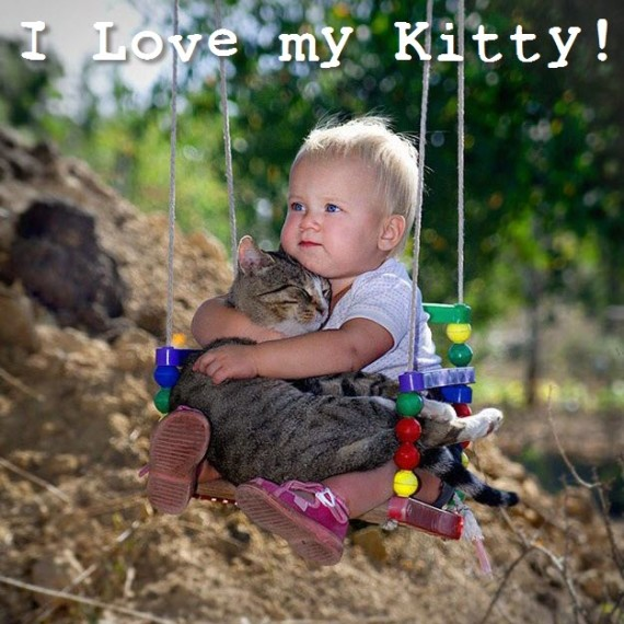 baby loves kitty