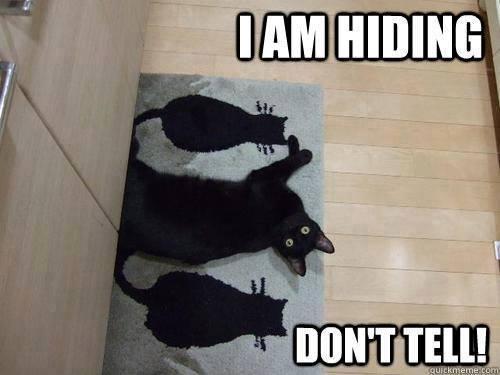 hiding lol