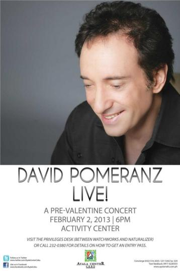 David Pomeranz Live in Cebu Concert 2013