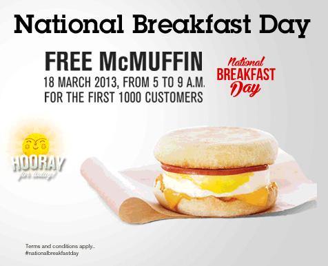 McDonald's Free McMuffin