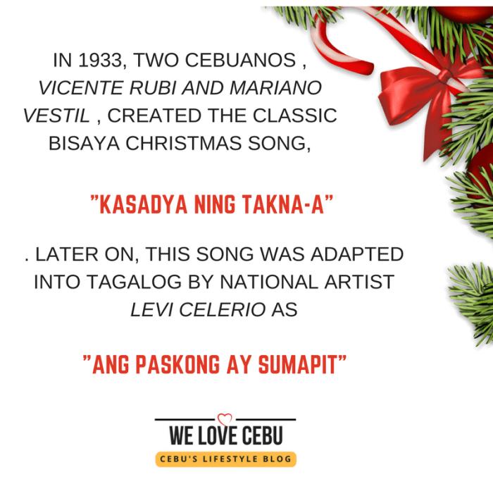 kasadya ning takna-a original versus ang pasko ay sumapit