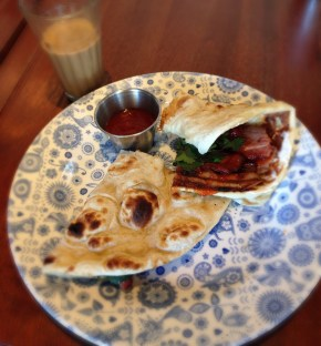 Dishoom Ginger Pig Bacon naan, We Love Food, It's All We Eat
