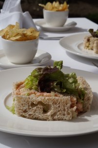An Atlantic prawn sarnie and hand-made crisps