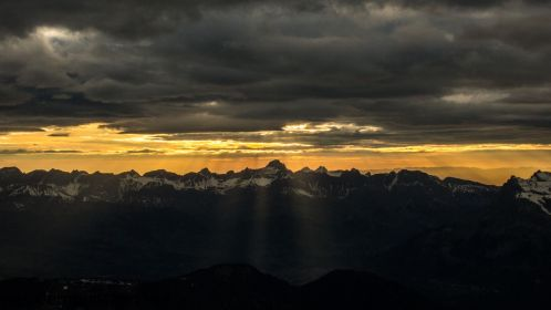 Sunset looking towards Les Houches