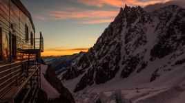 Sunrise from the Grands Mulet hut