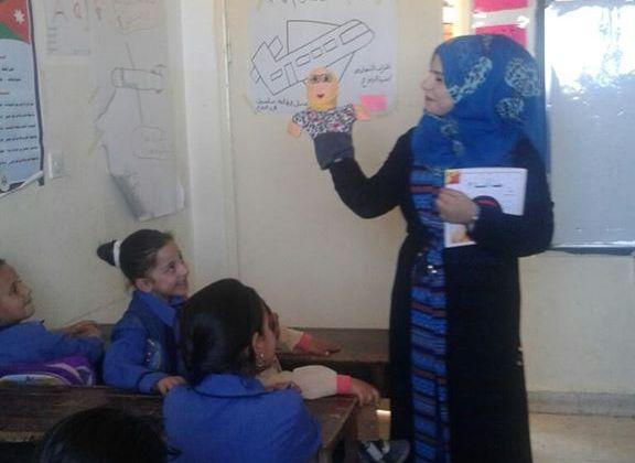 هيا الرفوع سفيرة برنامجنحن نحب القراءةمن محافظة الطفيلة