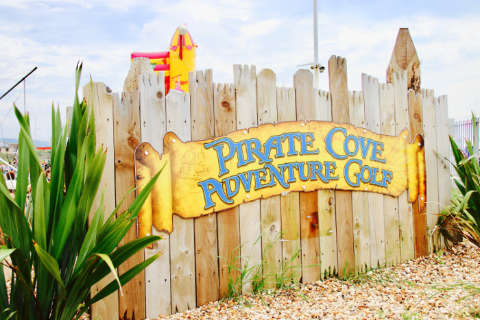 Aberavon Beach Pirates Cove mini crazy golf sign