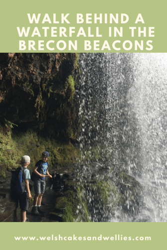 Walk behind the waterfall Brecon Beacons