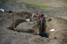 Excavating the wooden water-wheel case