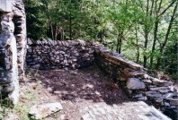 The restored dry stone wall