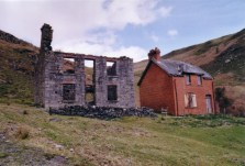 The mine office (left) and the later Elan Valley Water Company House (right)