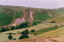 Looking northeast, Caenant viewed from Bwlch Mine
