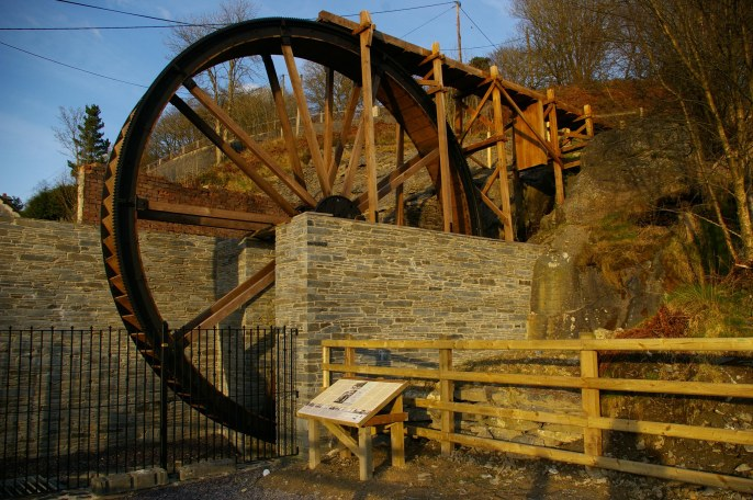 Renovated waterwheel.