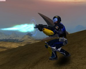 The Gauss Rifle in action