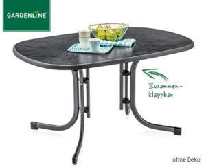 Gardenline Gartentisch, Stapelsessel, Relaxliege ...