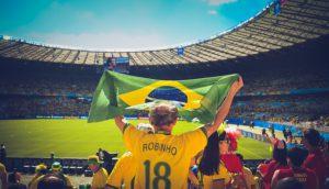Fußball ist eine Art der Religion in Brasilien