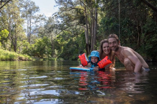 Swimming in the creek