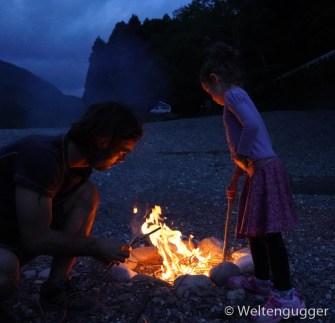 Campervan campfire Japan