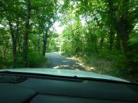 Kurz vor dem Etappenziel: 40 Kilometer Straße nicht breiter als das Auto...