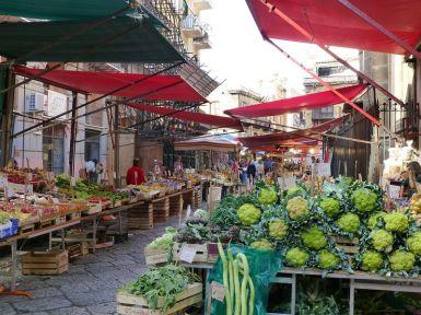 Die Innenstadt von Palermo...