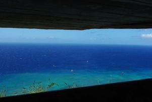 begrenzter Blick aus dem Bunker
