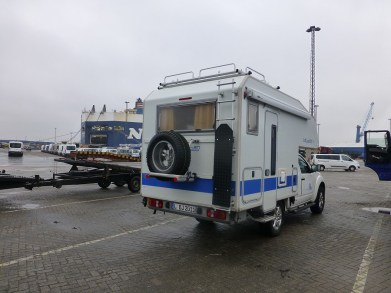 Kurz vor der Verladung in Bremerhaven