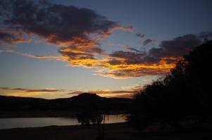 ... trotzdem bietet sich ein fulminanter Sonnenuntergang.