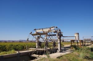 ...es sind diese alten Wassermühlen zu bewundern. Entlang des Orange River wurde schon zu Victorianischer Zeit ein weit verzweigtes Bewässerungsnetz angelegt.